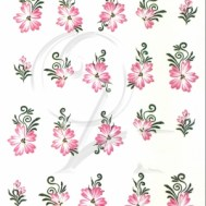 Plaquette Flowers light pink